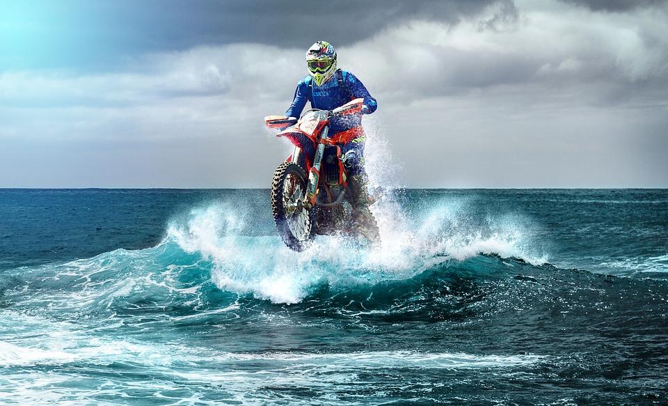 motocross I havet