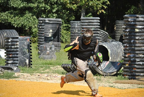 Paintball i aktion