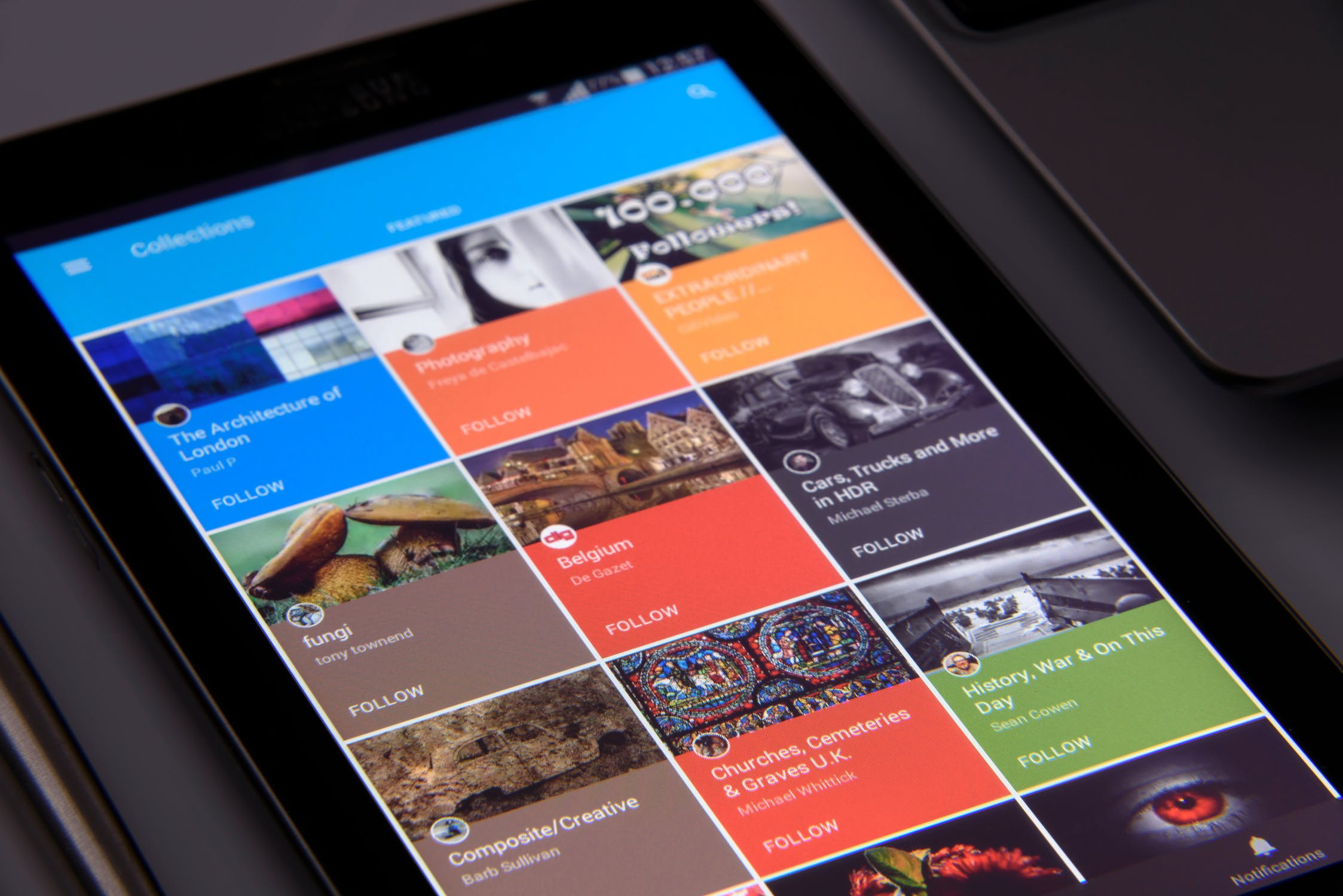 Nyheder på tablet